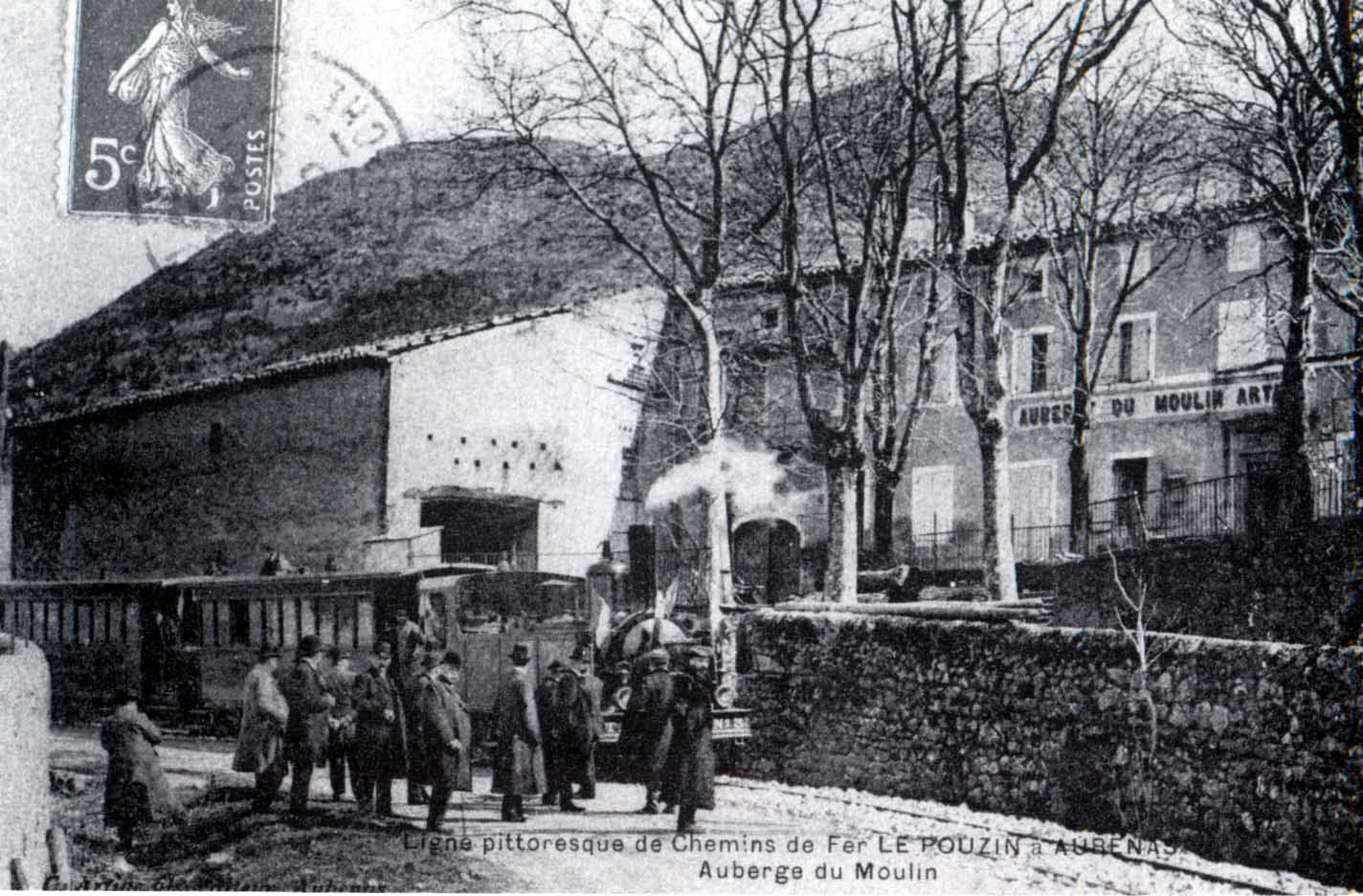 le train au Moulin Artige (entre 1910 et 1914)